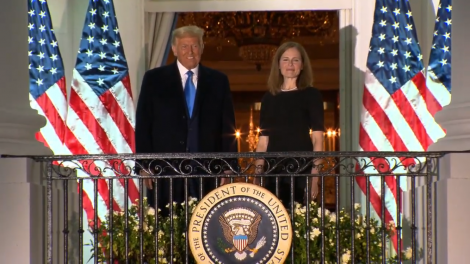 Judge Amy Coney Barrett to serve as associate justice took her Constitutional Oath on Monday at the White House.